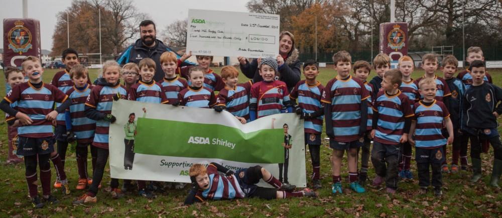 Asda Foundation grant to Camp Hill Rugby Club