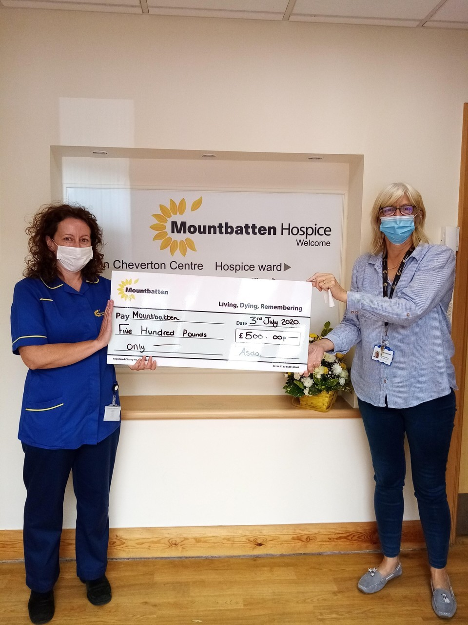 Covid Hygiene Grant to hospice | Asda Newport Isle of Wight