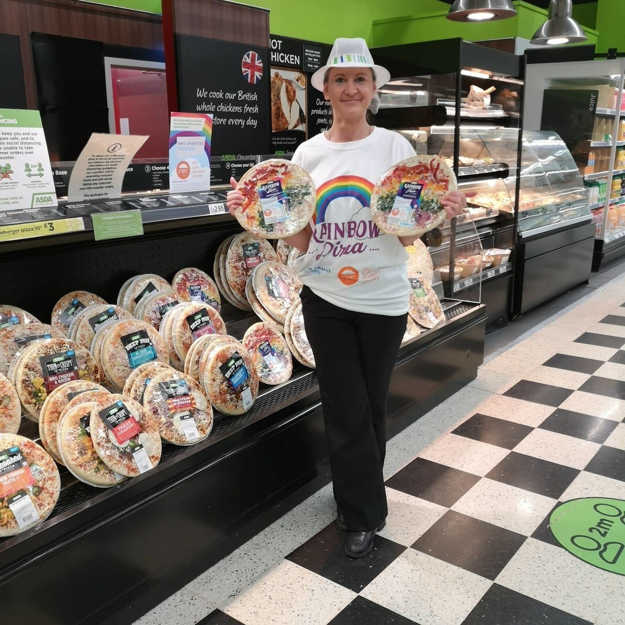 We're showing our thanks and support with our new rainbow pizza.  | Asda Long Eaton