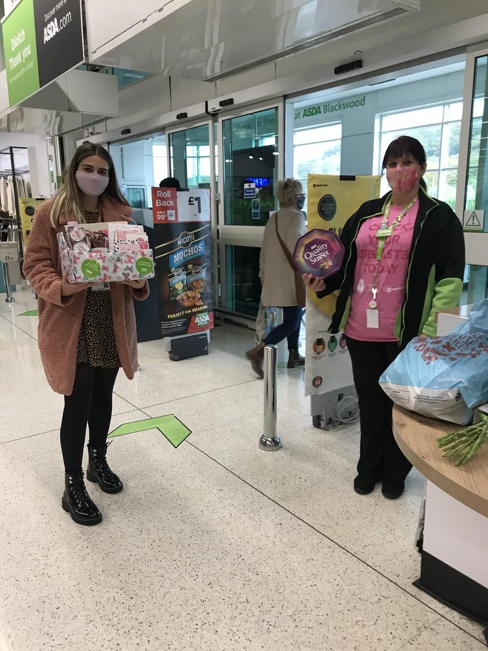 Tickled Pink donation | Asda Blackwood