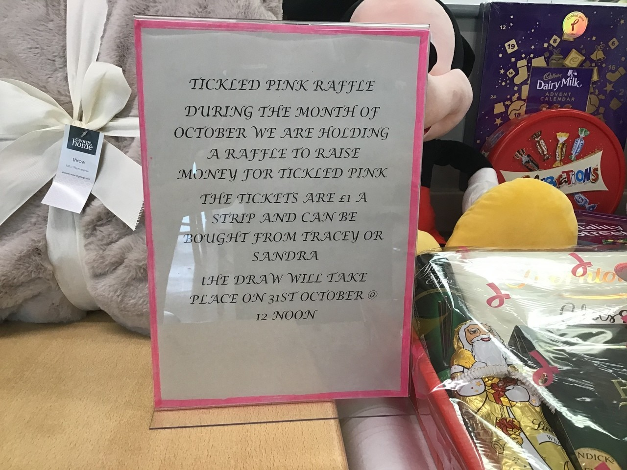 Tickled Pink raffle | Asda Broadstairs
