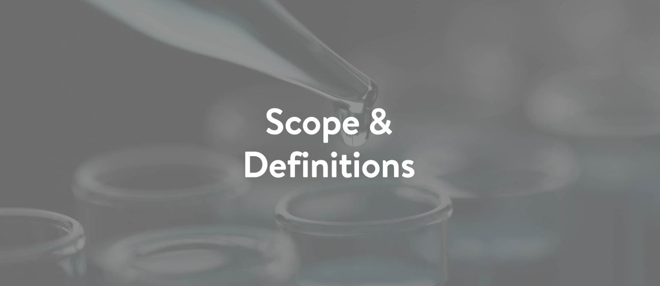 Scope & Definitions Lead Image