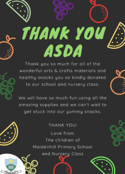 Thank you message! | Asda Newton Mearns
