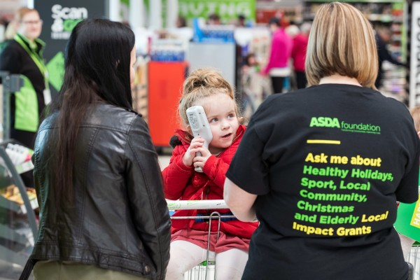 Ava Melrose loves visiting Asda Forfar