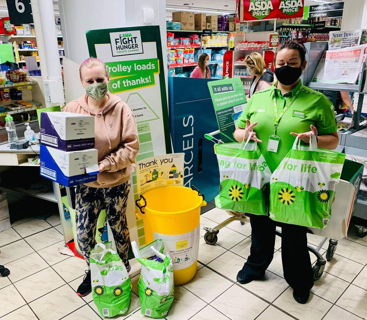 Hygiene products donated | Asda Kilkeel