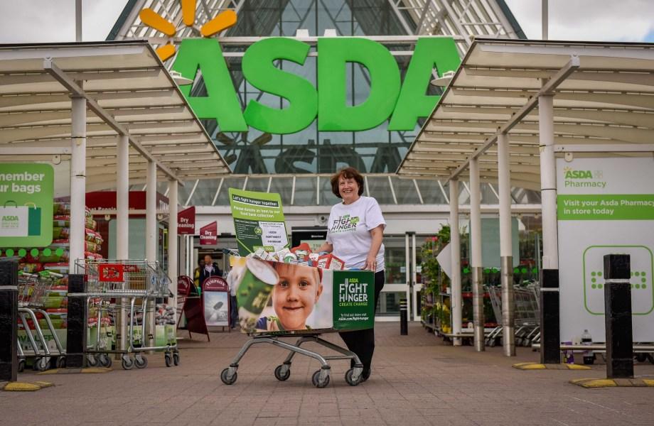 Food donation trolley