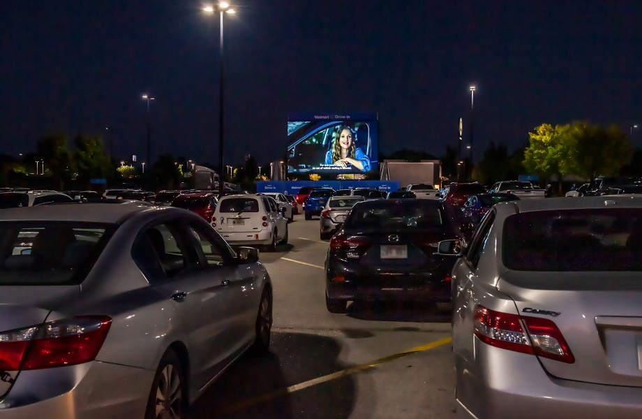 Walmart Drive-In Movie at Parking Lot