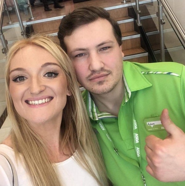 Adam Pinder from Asda Living Hull with Emma Hoe from Mencap Humber