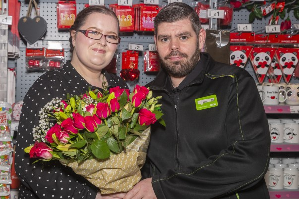 Asda colleagues Heather and Liam who met on the shop aisles are getting married