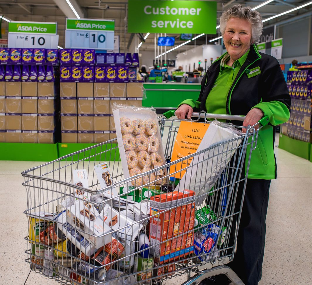 Community Champion Nichola with the donations