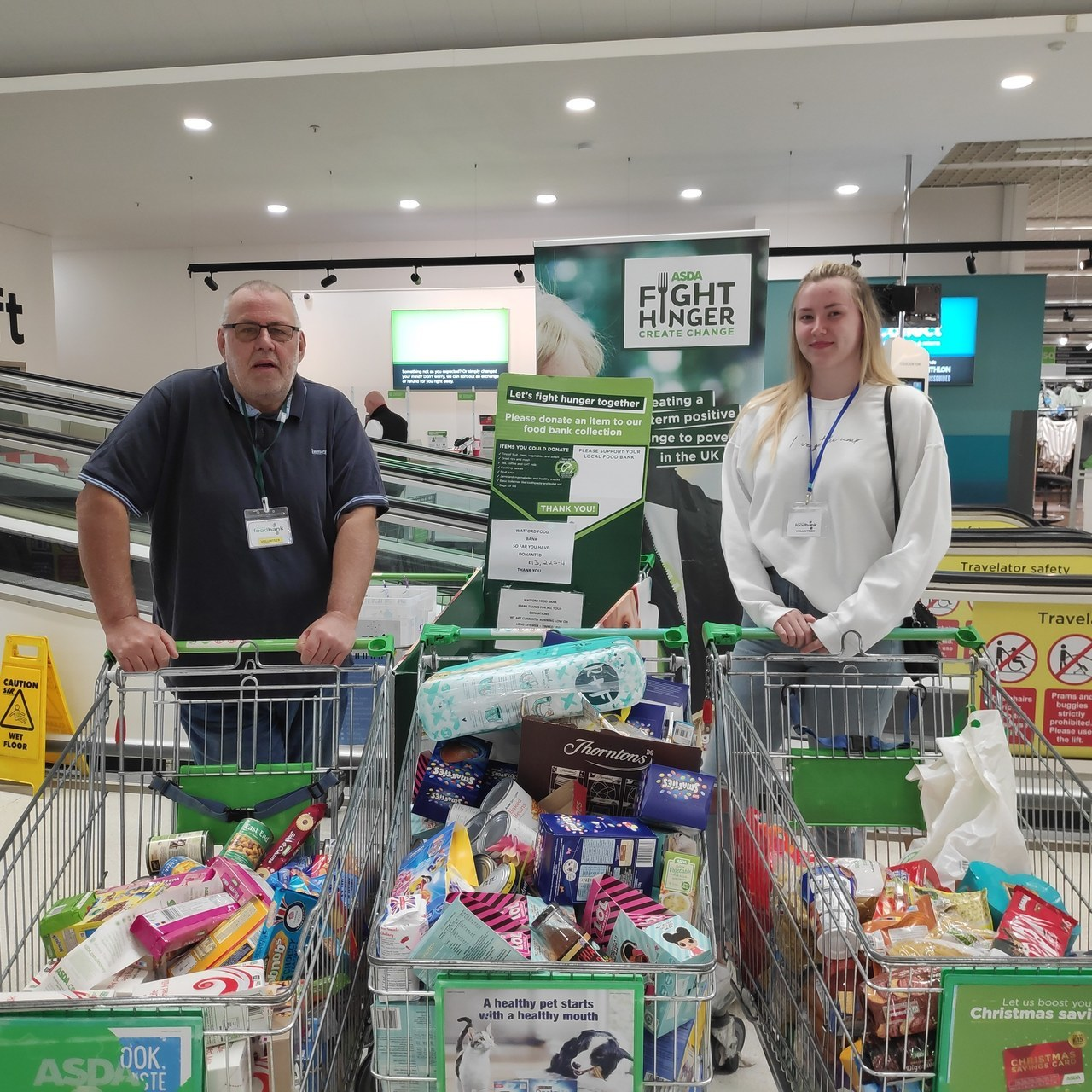 Supporting local food bank | Asda Watford