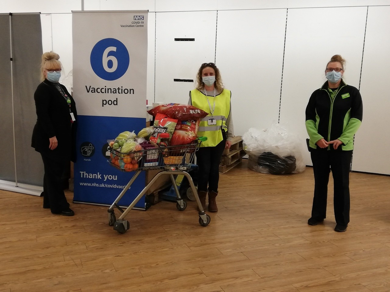 Donation for our local vaccination centre  | Asda Folkestone
