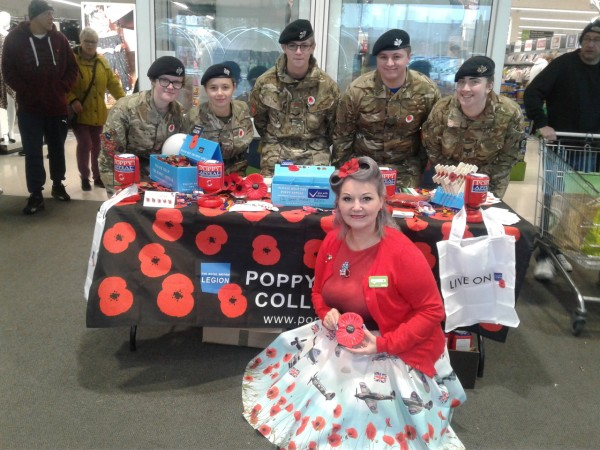 Poppy Appeal at Asda Sutton in Ashfield