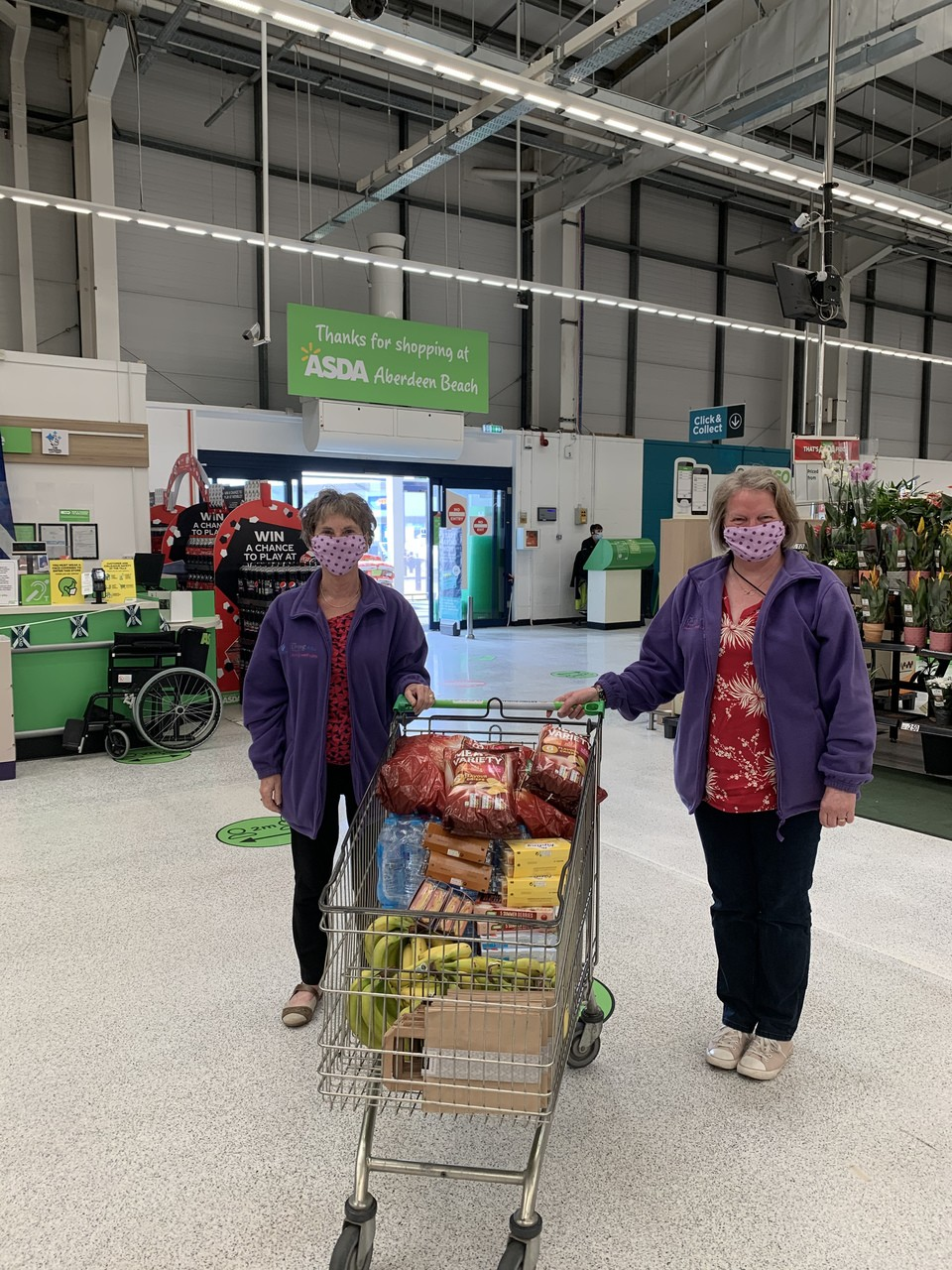 Donation to The Living Well Project | Asda Aberdeen Beach