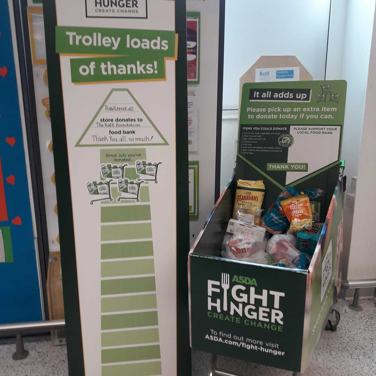 Fight Hunger Create Change support | Asda Rawtenstall