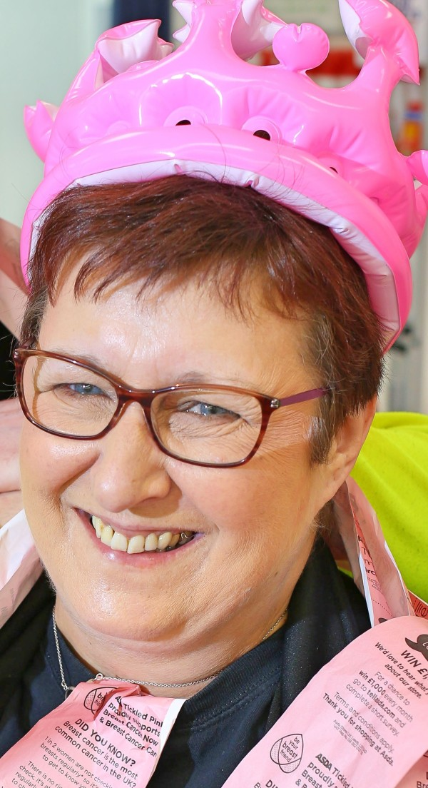 Brave Asda Carlisle colleague Kim backs our Tickled Pink campaign