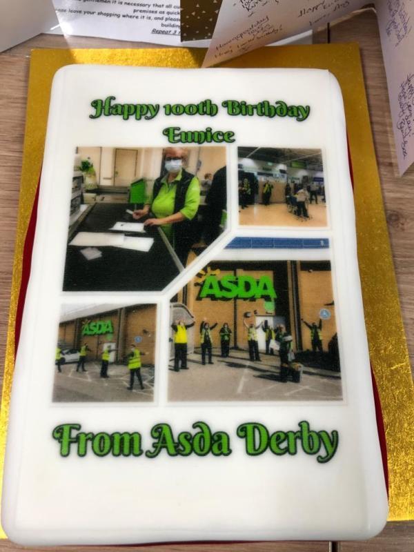 Asda Derby helps Eunice Dring celebrate her 100th birthday