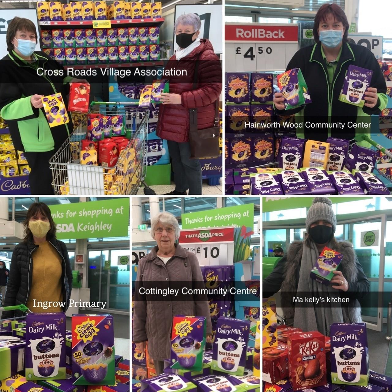 'Egg-cellent' donations!   Asda Keighley