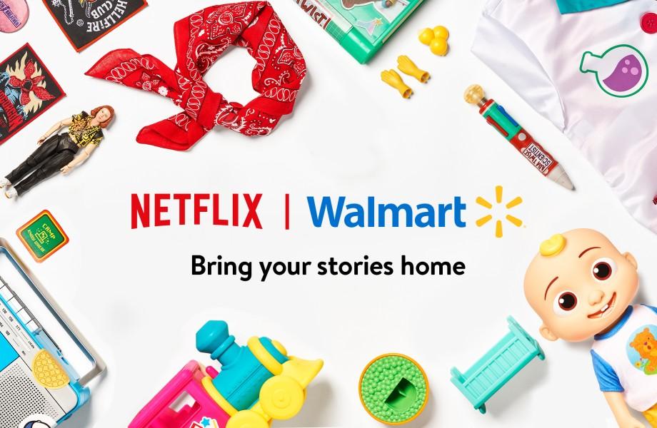 Netflix+Walmart Logo Mockup