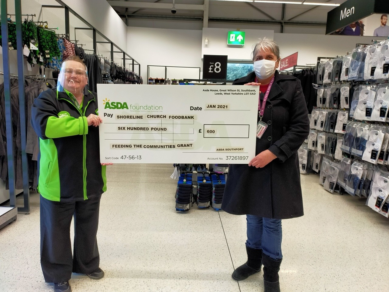 Shoreline Church Foodbank donation | Asda Southport