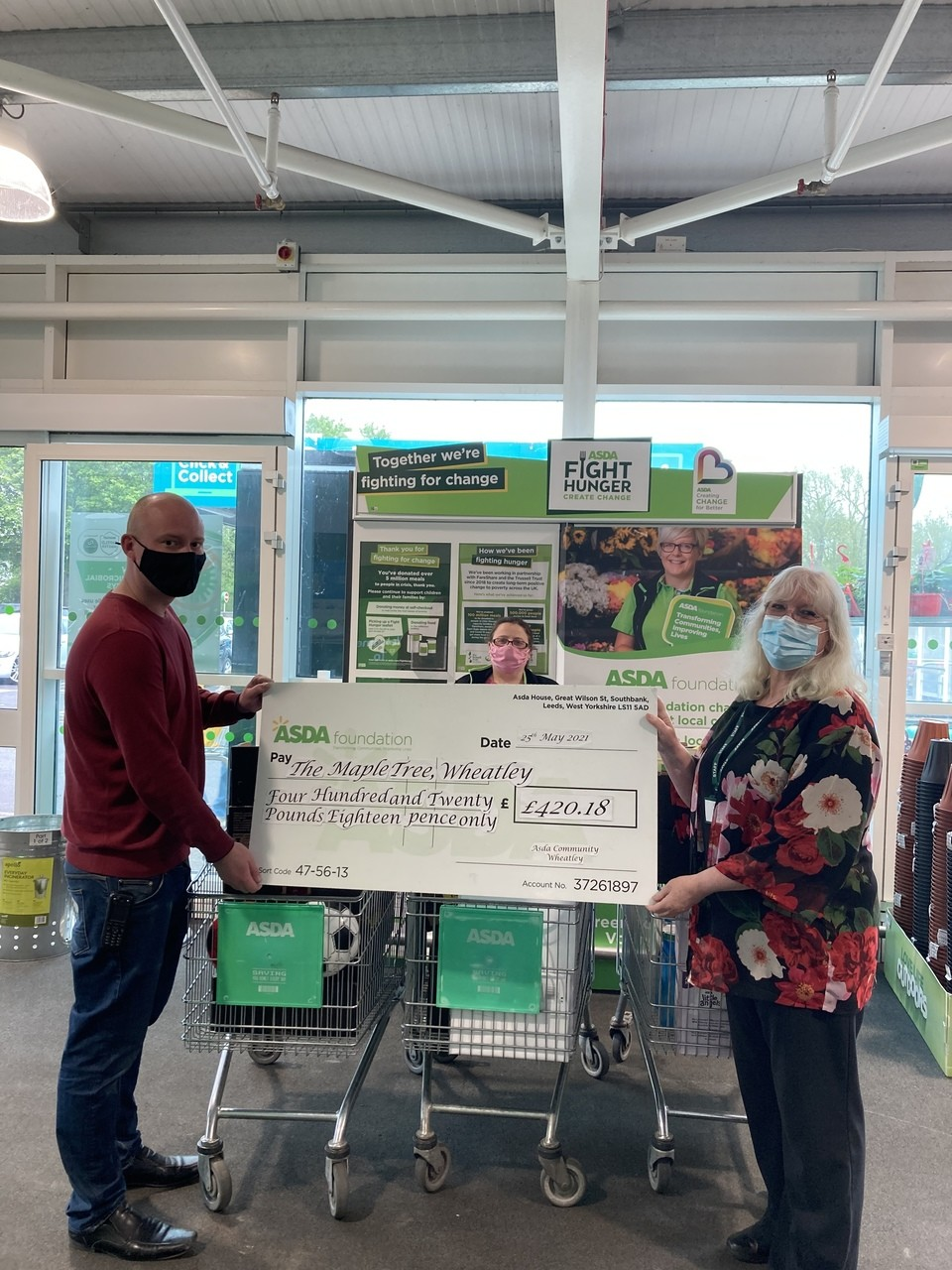 Maple Tree grant success   Asda Wheatley