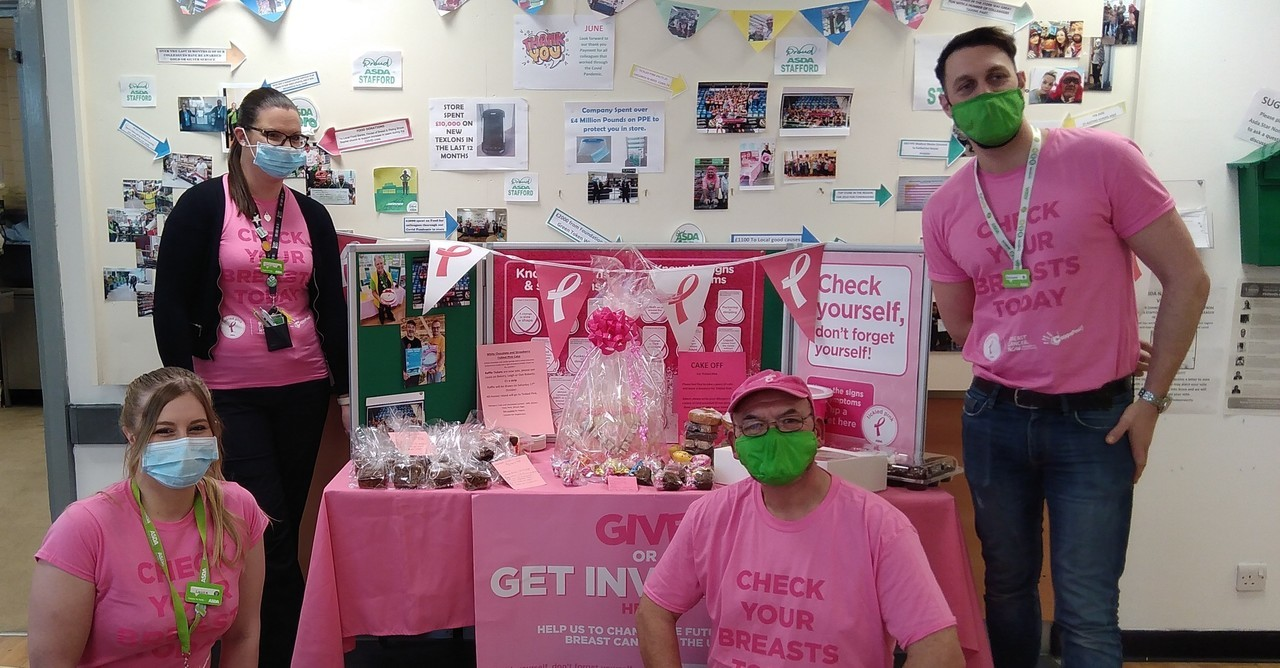 Tickled Pink fundraising activities | Asda Stafford