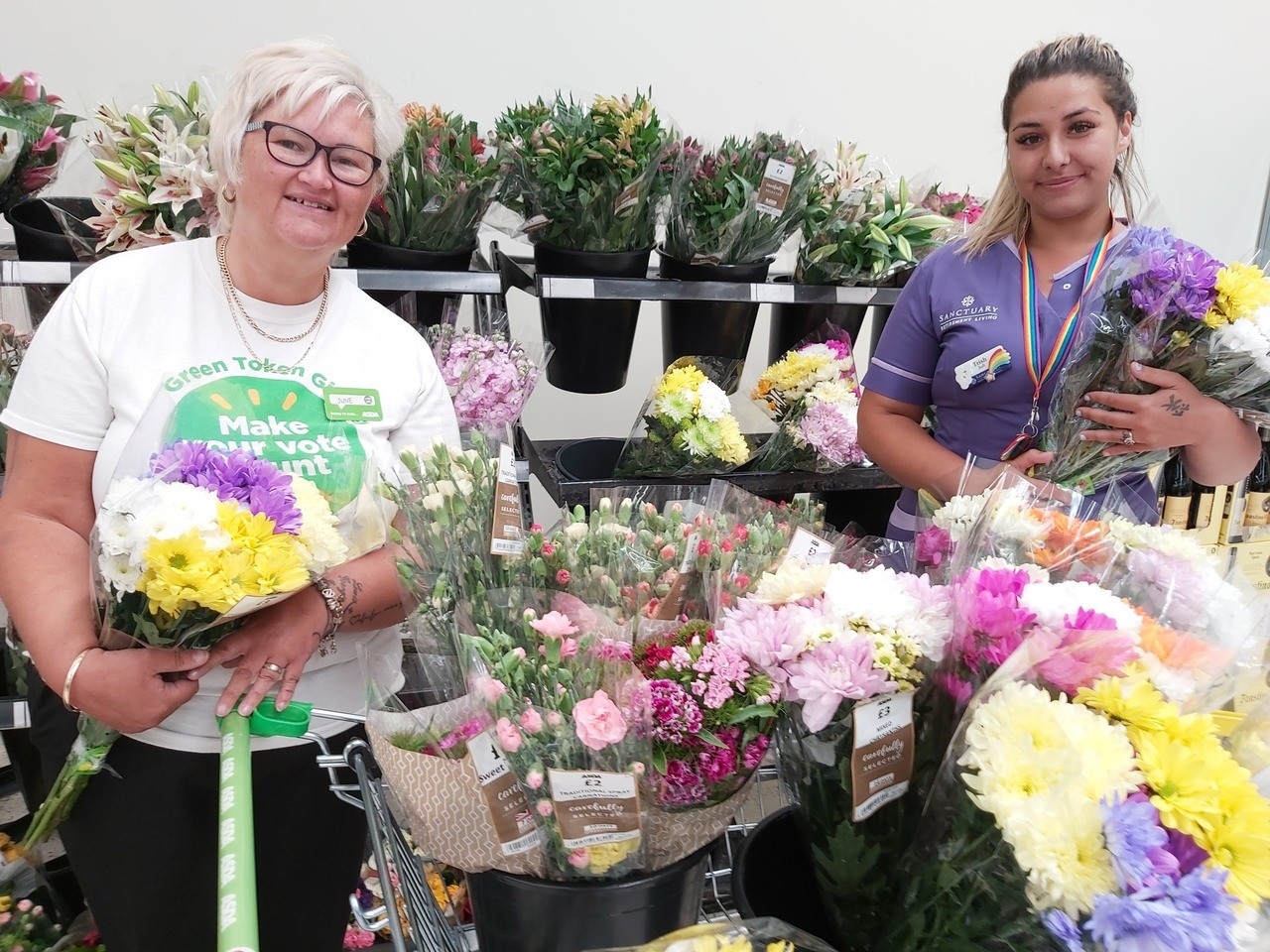 Flower donation to care home | Asda Donnington Wood