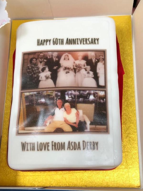 Ann and Harold Patrick celebrate diamond wedding at Asda Derby