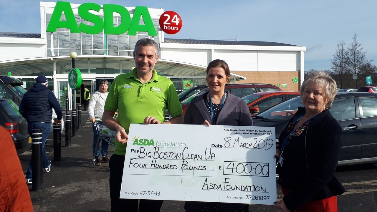 Asda Boston supported the Big Boston Clean Up