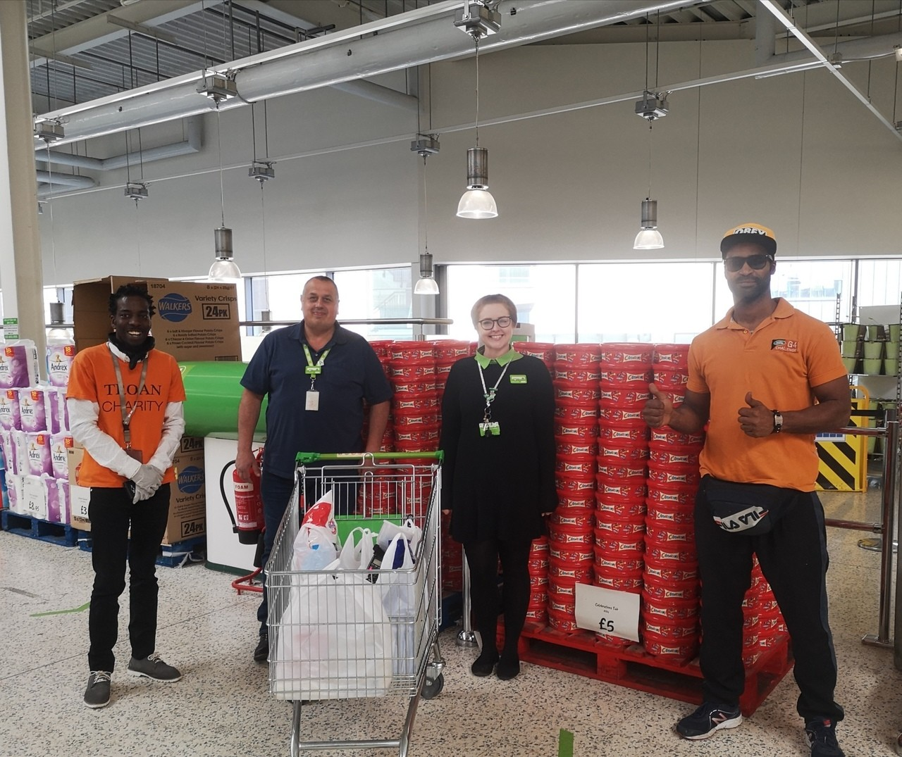 Donation for Troan Charity volunteers 💚 | Asda Barking
