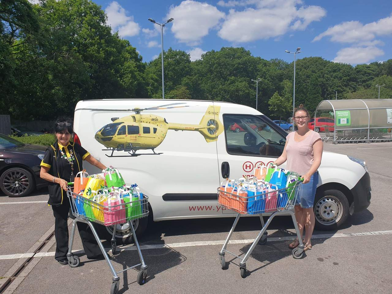 Donation to air ambulance | Asda Huddersfield
