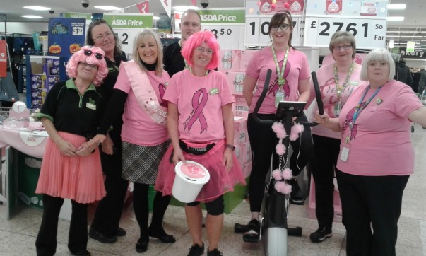 Asda Hinckley colleagues Tickled Pink