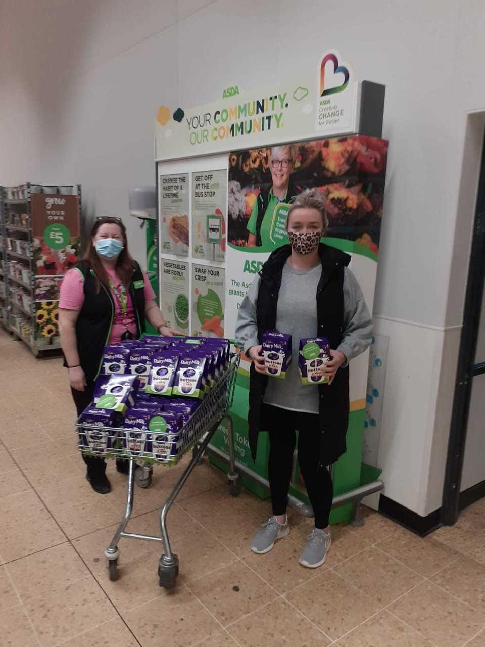 Eggs-tra special donation to nursery | Asda Blantyre