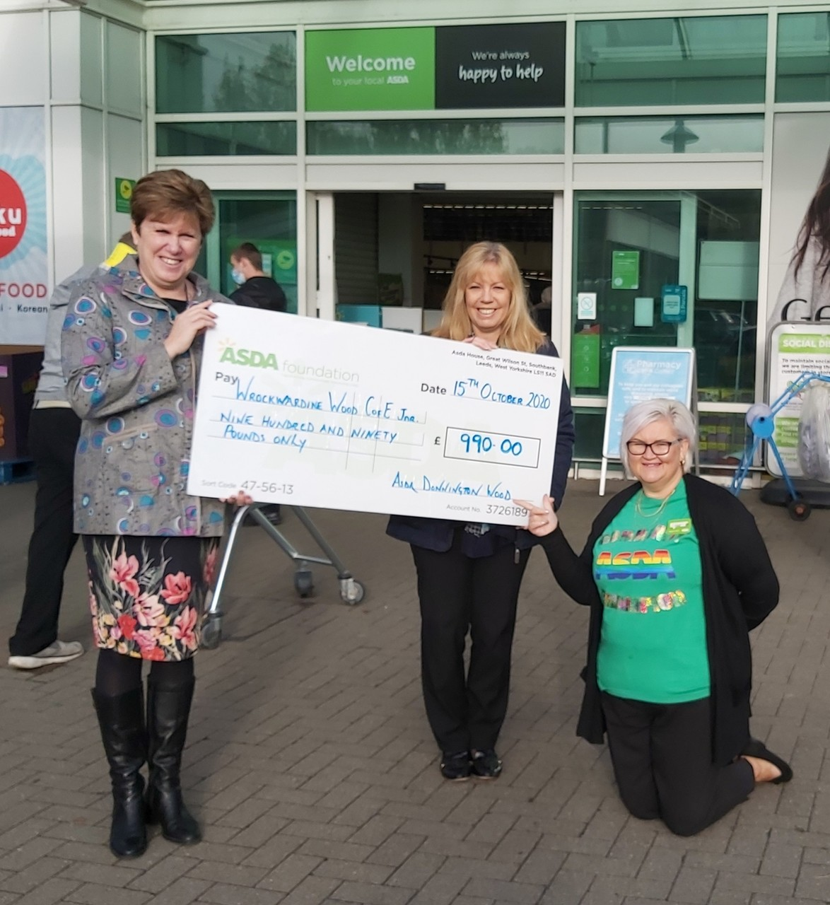 £990 grant for Wrockwardine Wood CE Junior School | Asda Donnington Wood