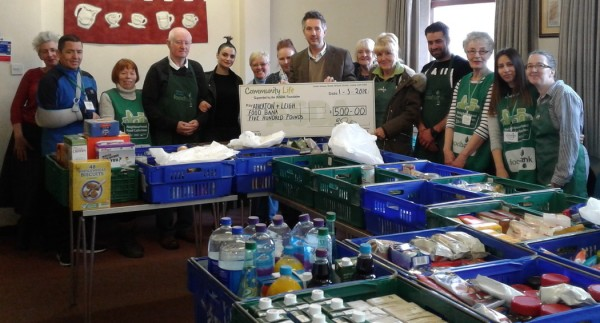 Asda Leigh community champion Gwen Appleton at Atherton and Leigh food bank