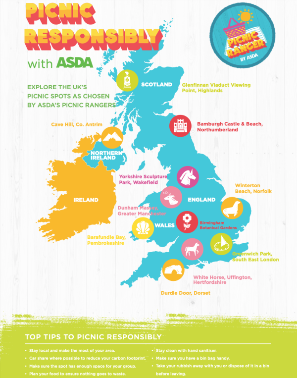 Asda Picnic Ranger initiative helps more people enjoy UK beauty spots