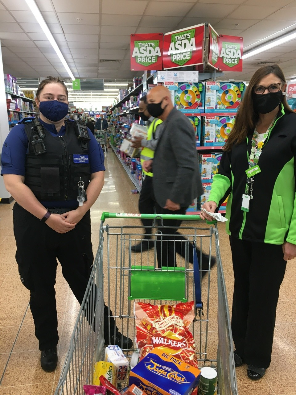 Donations to community support police team  | Asda Longwell Green