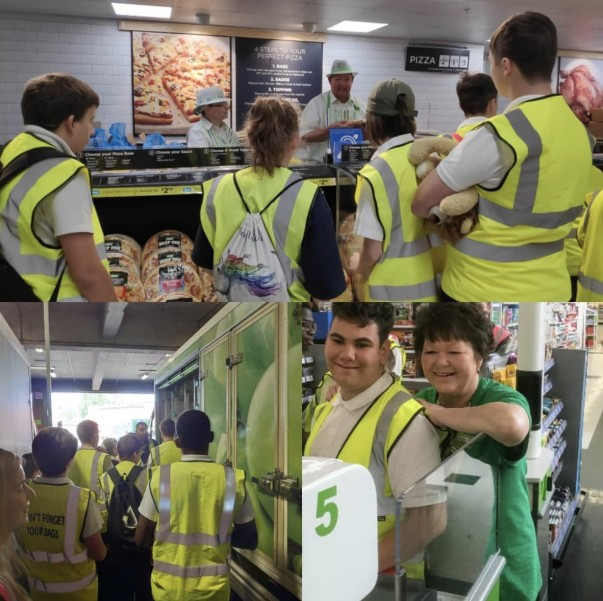 Children from The Collett School on a visit to Asda Watford
