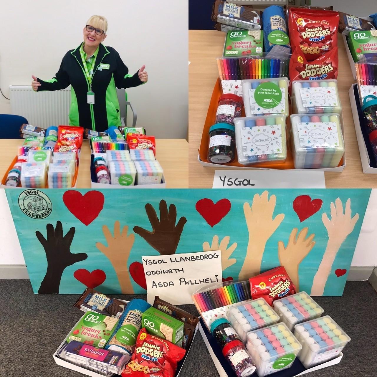School donation | Asda Pwllheli