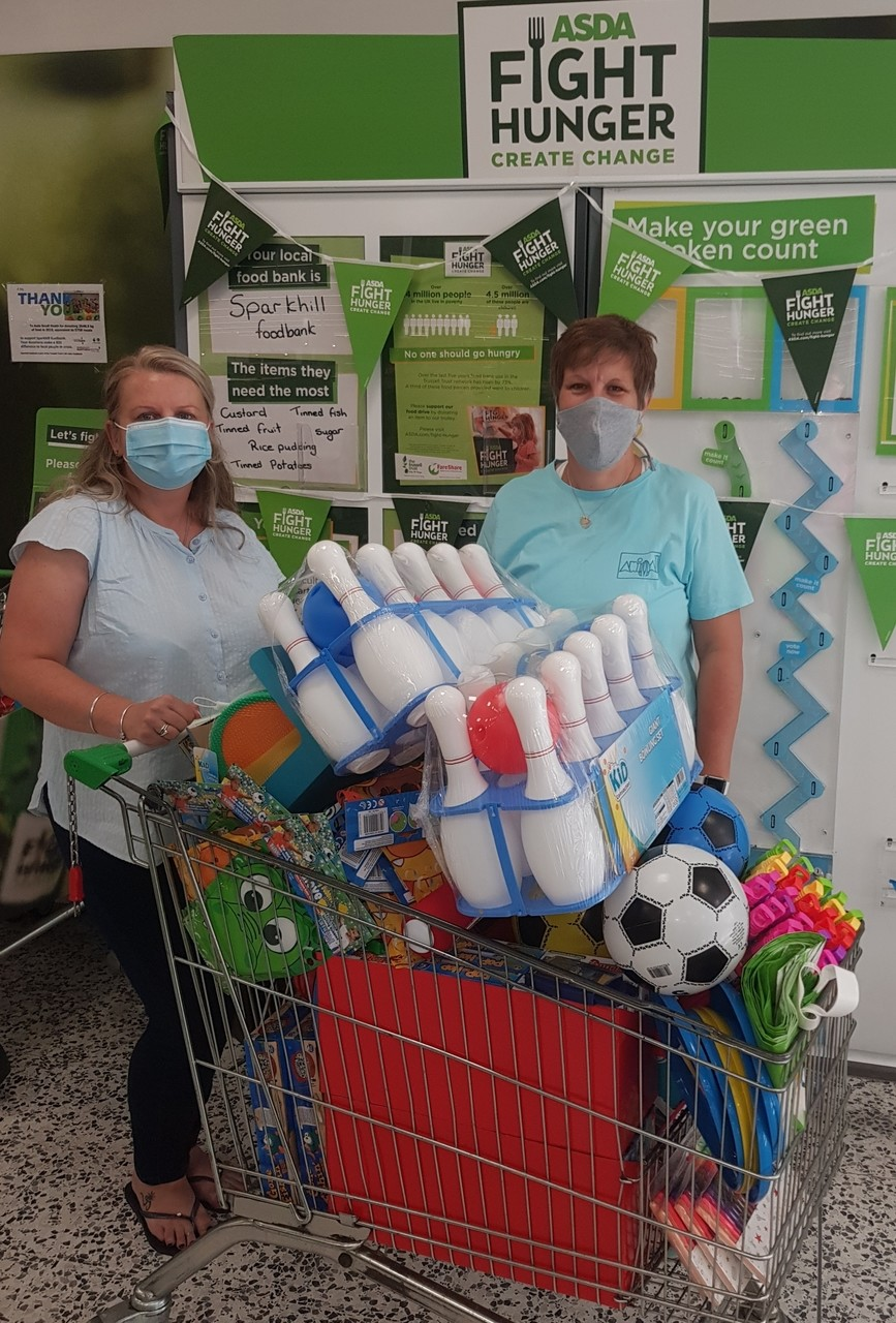 Donation of outdoor goodies for DMR Services | Asda Small Heath
