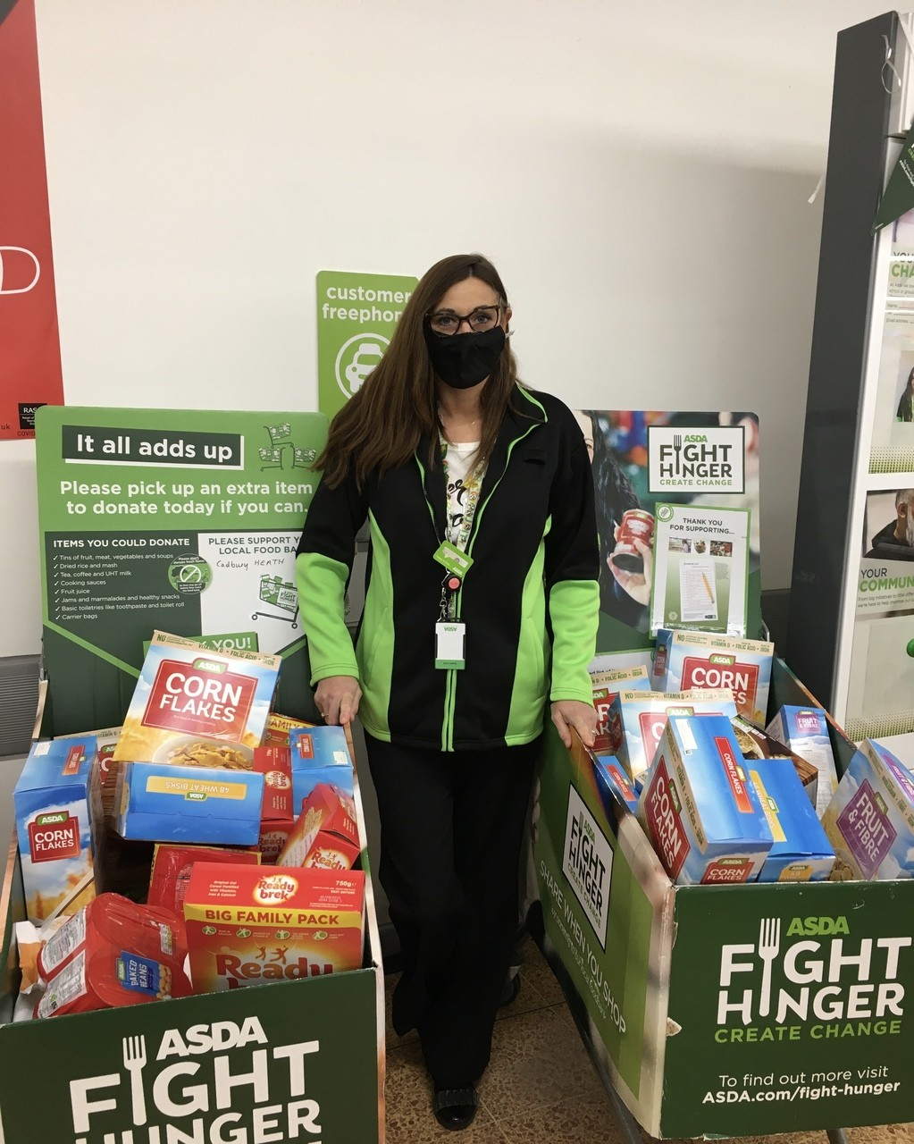 Food bank donations top up  | Asda Longwell Green