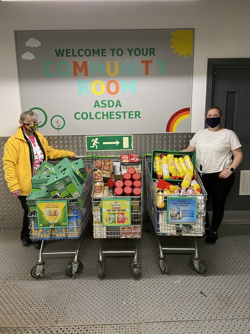 Foundation donations   Asda Colchester