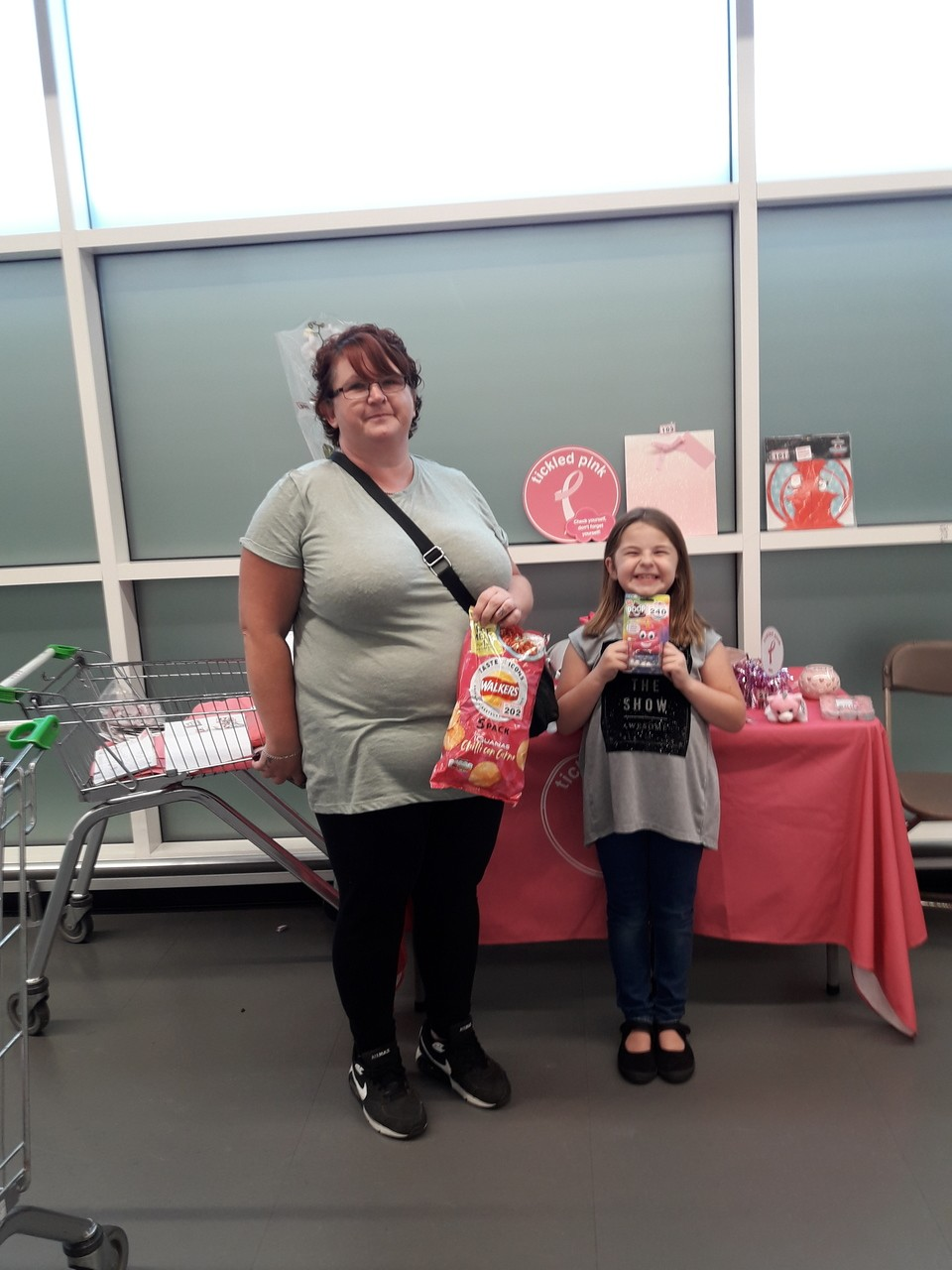 Tickled Pink fundraising | Asda Patchway