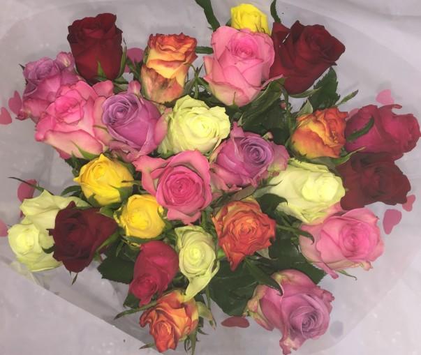 Asda multi-coloured roses