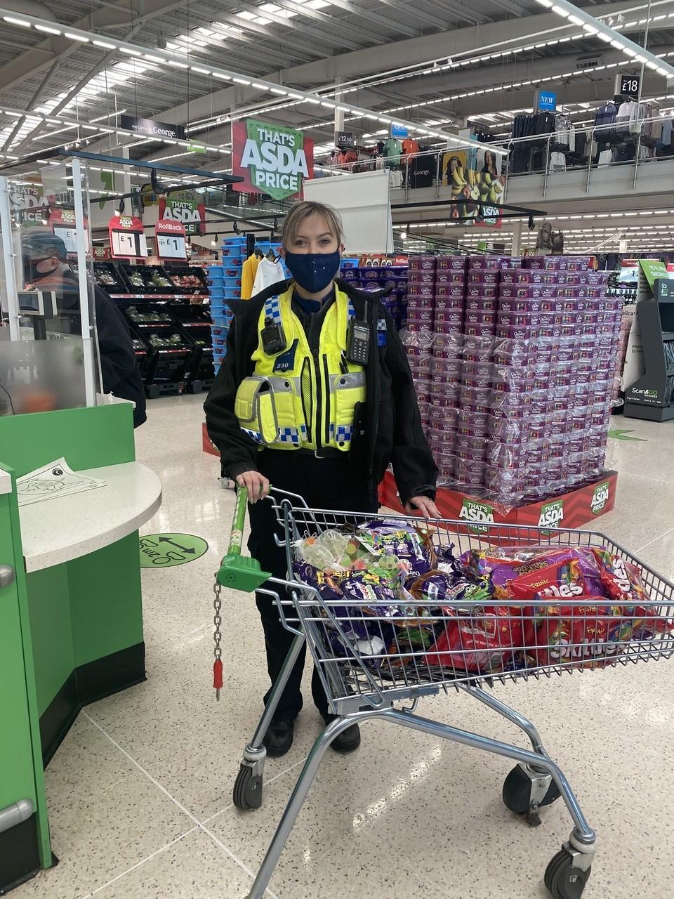 Donation to South Wales Police | Asda Merthyr Tydfil