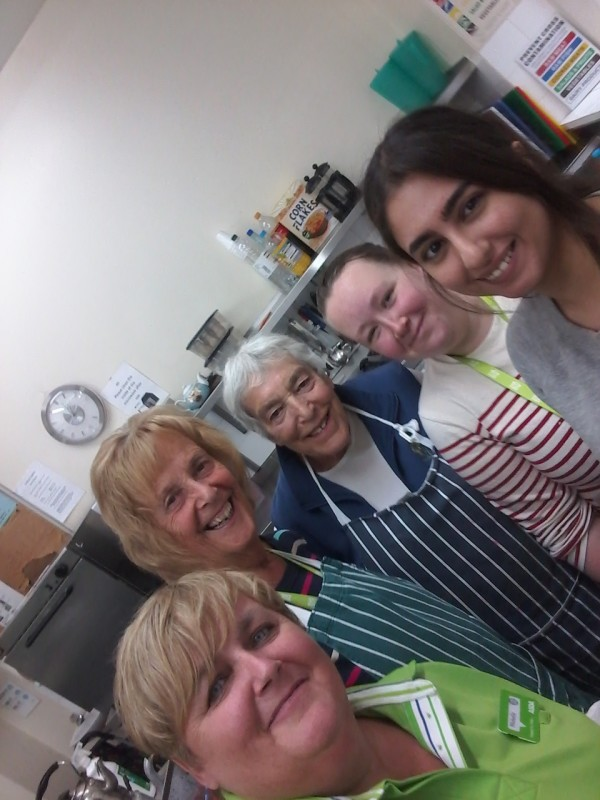 Michelle Castledine from Asda Gosforth volunteers with Make Lunch charity