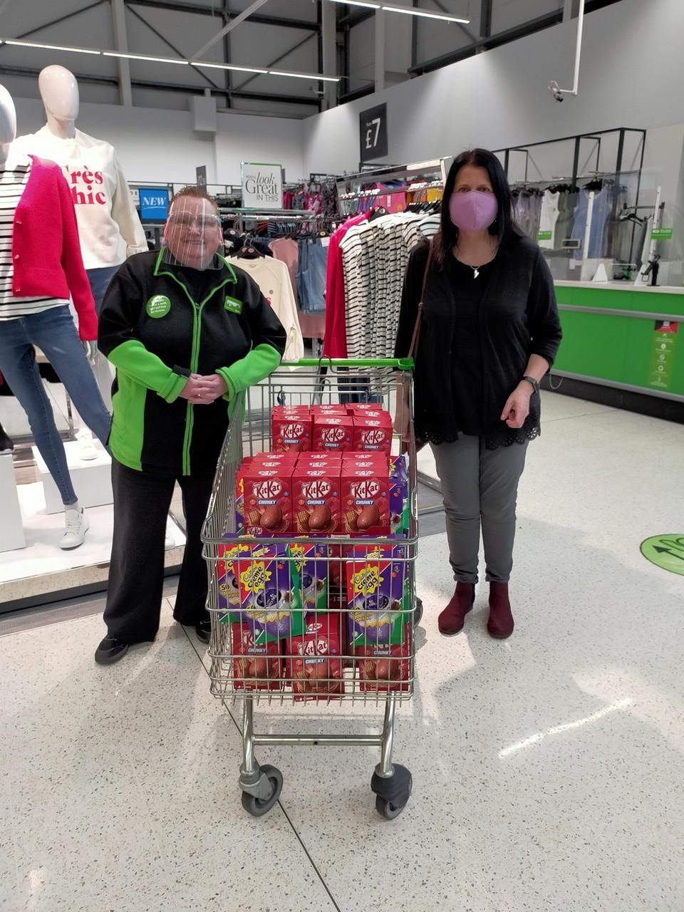 Sefton Advocacy Easter Egg Donation | Asda Southport
