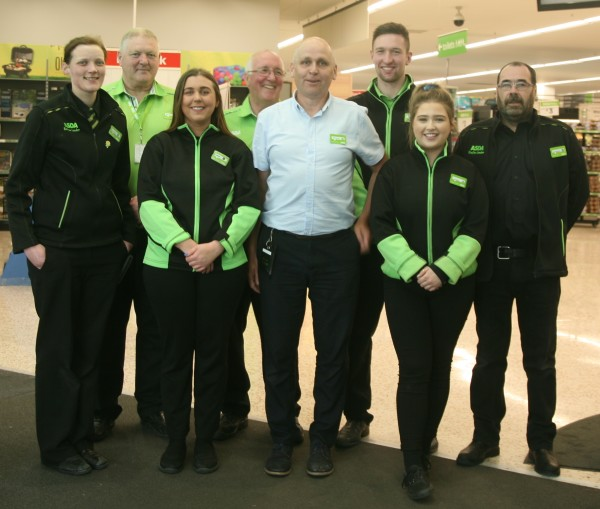 Colleagues at Asda Omagh prepare for Father's Day