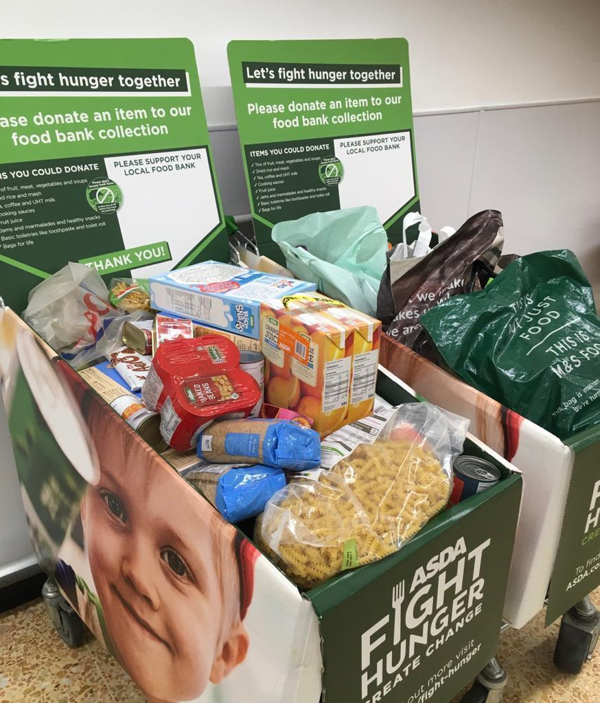 A massive thank you to our amazing customers and colleagues for another massive donation to the Woodley food bank this week. 😊   Asda Lower Earley