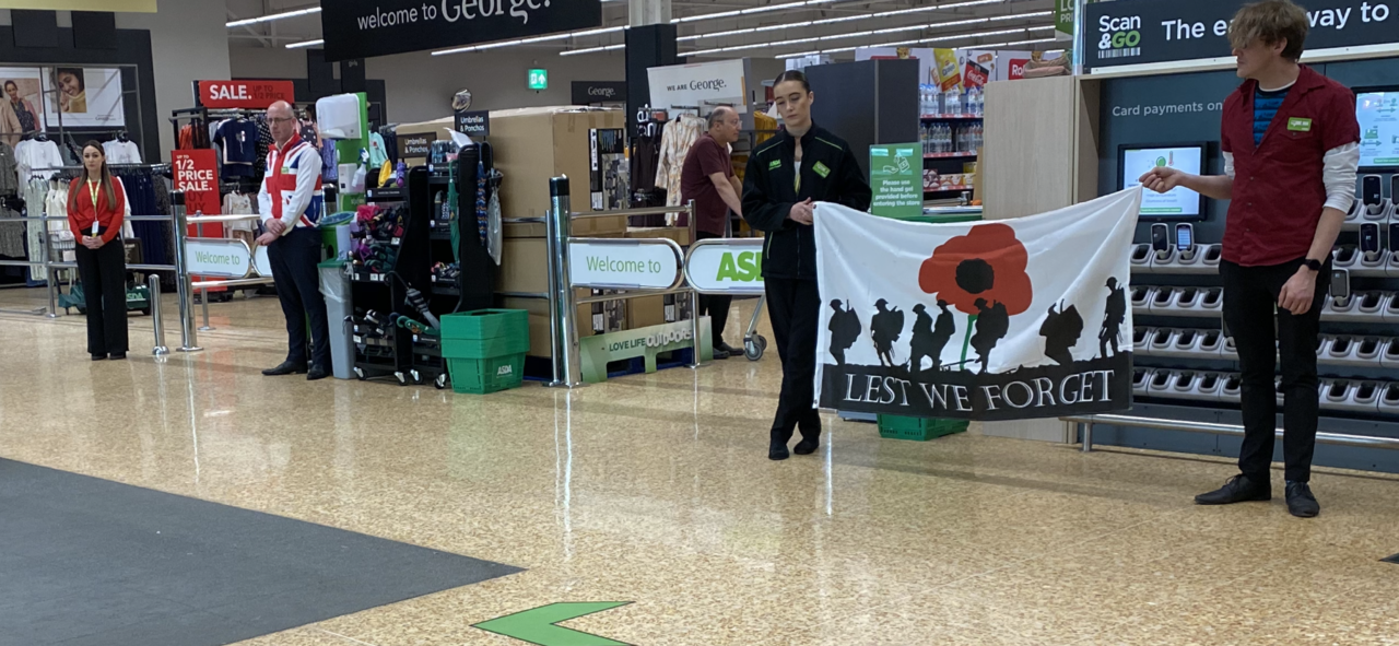 We will remember | Asda Gloucester